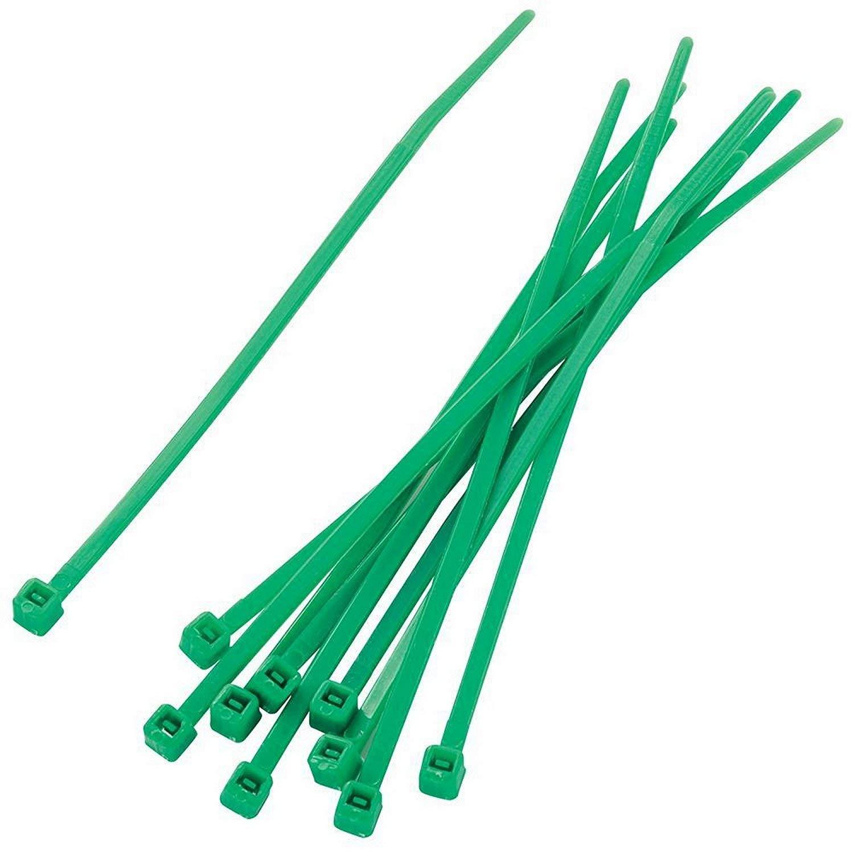 Gocableties Bridas para cables 200 mm x 4,8 mm, nailon, resistentes, de alta calidad, 1000 unidades verde