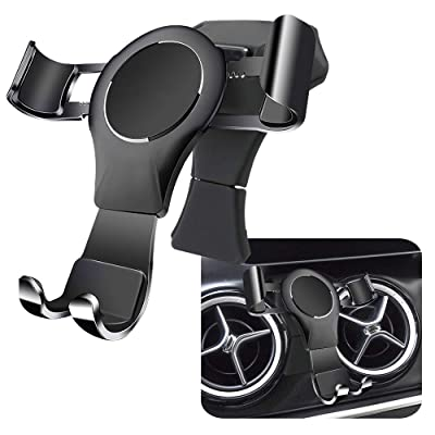 LUNQIN Car Phone Holder for Mercedes Benz GLA Class 2015-2020 gla200 250 260 CLA 2014-2020 cla220, A Class 2013-2020 Auto Accessories Navigation Bracket Interior Decoration Mobile Cell Phone Mount