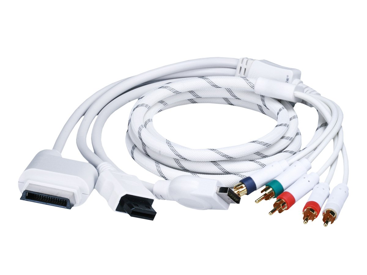 Monoprice 6FT 4 in 1 Component Cable for Xbox 360, Wii, PS3 and PS2: Amazon.es: Videojuegos