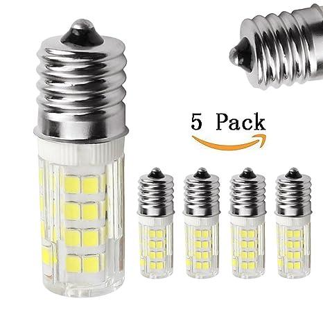 E17 LED luz bombilla horno de microondas, 4 W, luz blanca 6000 K,