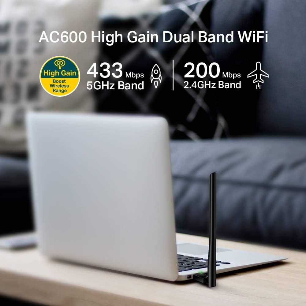 TP-LINK AC600 Dongle USB Wi-Fi, adaptador Wi-Fi de doble ...