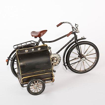 SG Chapa de Bicicleta con Sidecar Plegable Negro nostálgica Pieza de coleccionista Inglés Post Bicicleta tamaño