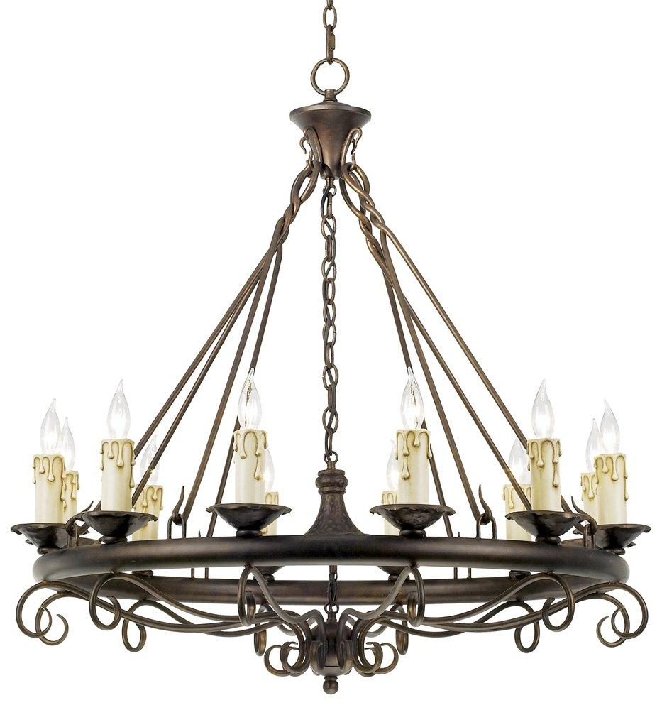 Rodeo collection round twelve light chandelier amazon arubaitofo Images