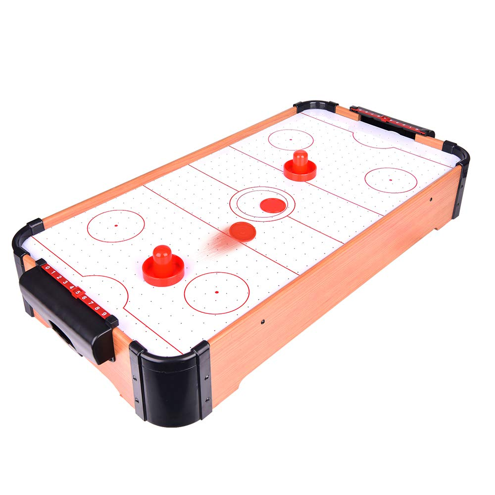 Portzon Electric Air Powered Hockey, Foosball Table Indoor Sports Gaming Set with Equipment Accessories 2 Paddles, 2 Pucks by Portzon