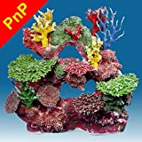 Instant Reef DM042PNP Fish Tank Decorations Large, Aquarium Décor Ornament, Fake Coral Reef Tank for Saltwater Marine and Freshwater Fish
