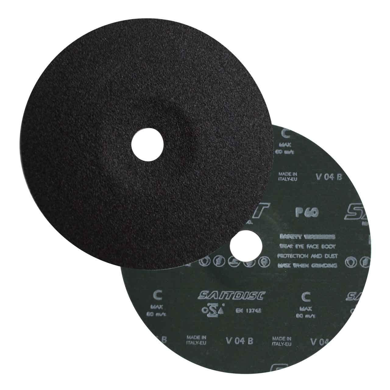 Sait 50104 7X7/8 Silicon Carbide Closed Coat Fiber Grinding Discs 60 G