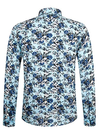 Hommes loisirs Aptro pour xxxl 1905 mercerisé pour à Taille xs Chemise multicolore manches en coton longues IfgYb7yv6