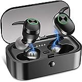 Wireless Earbuds Bluetooth, Junesh True Wireless Earbuds 5.0 Headphones, Deep Bass in Ear Earbuds w/Charging Case/Mic…