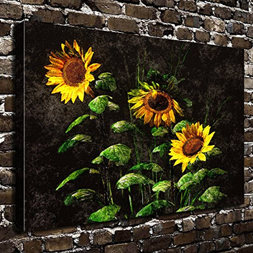 COLORSFORU Wall Art Painting Sunflower Prints On Canvas The Picture Landscape Pictures Oil For Home Modern Decoration Print Decor For Living Room