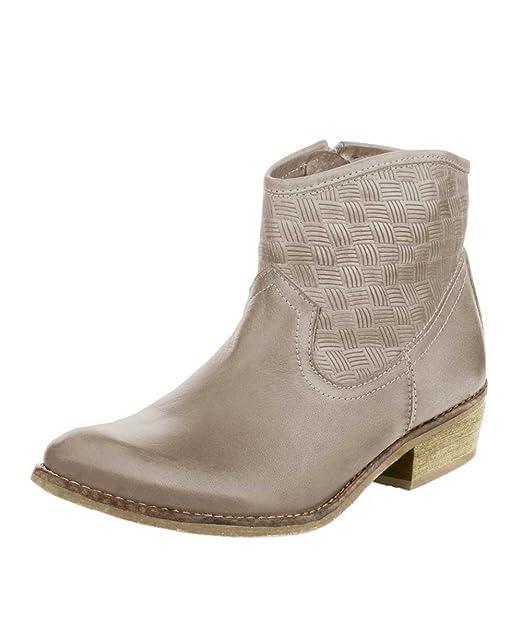 Andrea Conti piel de napa de botines de mujer Botines trenzado taupe, color Marrón, talla 37: Amazon.es: Zapatos y complementos