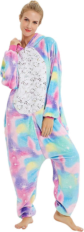 ABYED Pijama Animal Entero Unisex para Adultos Ni/ños con Capucha Ropa de Dormir Traje de Disfraz para Festival de Carnaval Halloween Navidad