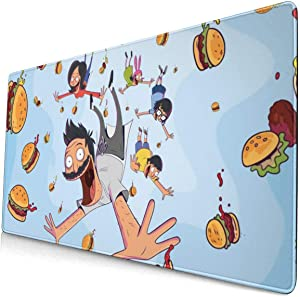 PinkBubble Bob's Burgers Mouse Pad Customized Gaming for Laptop and Computer Cute Design Desk Accessories Non-Slip Stitched Edges Waterproof
