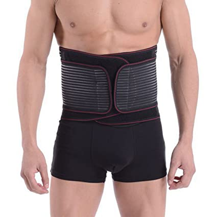 1fec064fa6 Mens Adjustable Waist Trimmer Belt Sweat Weight Loss Workout Enhancer Wide Belt  Stomach Body Wrap Protecting