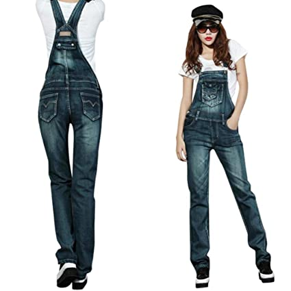 82b0424ed66f Amazon.com  Women Fashion Jumpsuit GoodLock Street Denim Bib Lady ...