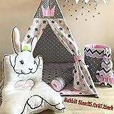 Rabbit Baby Play Mat - Cartoon Floor Mats Non Toxic Girl Gym Carpet Cotton Infant One Piece