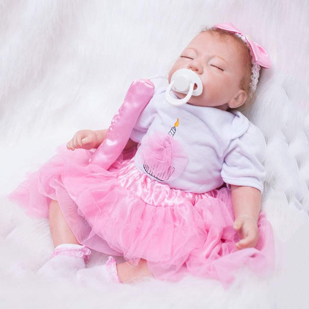 suministro de productos de calidad - LUCKYCAR Muñeca de simulación, Silicona Silicona Silicona Suave muñeca Realista renacida, Puede Sentarse, Puede acostarse,55cm,Juguetes para bebés, Juguetes para niños y niñas, recién Nacidos  seguro de calidad