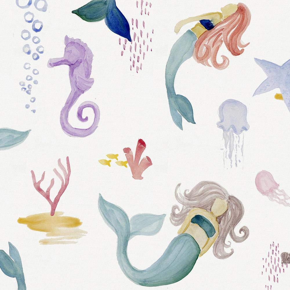 Carousel Designs Watercolor Mermaids Cradle Sheet