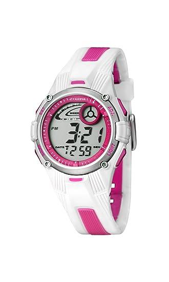 Calypso 5558/2 - Reloj para niñas de cuarzo, correa de goma color: Amazon.es: Relojes