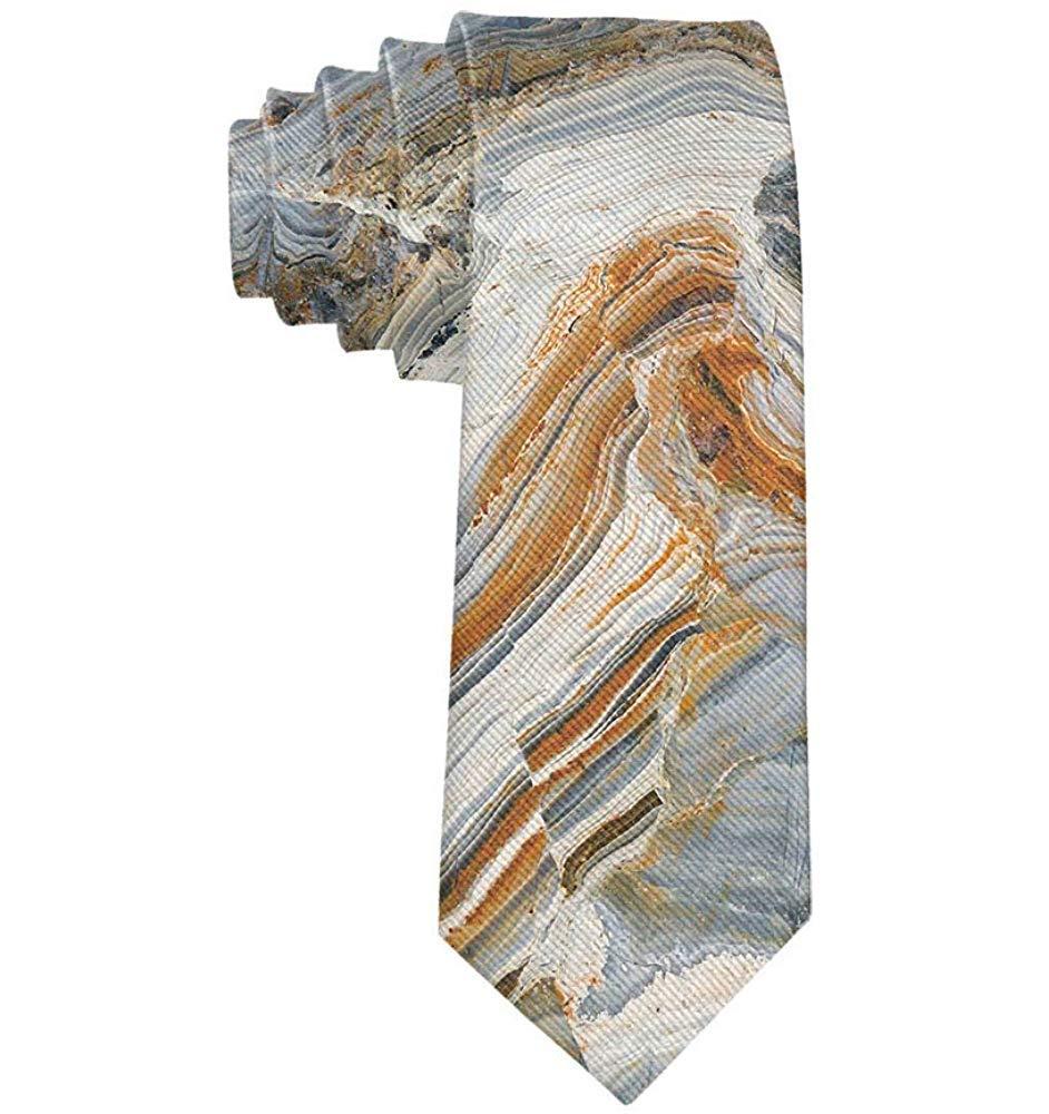 Mármol de negocios Tonos mezclados Fondo de roca Corbata Skinny ...