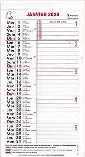 Calendrier Mois Janvier 2020.Exacompta 1 Bloc Ou Recharge Pour Calendrier Mensuel A