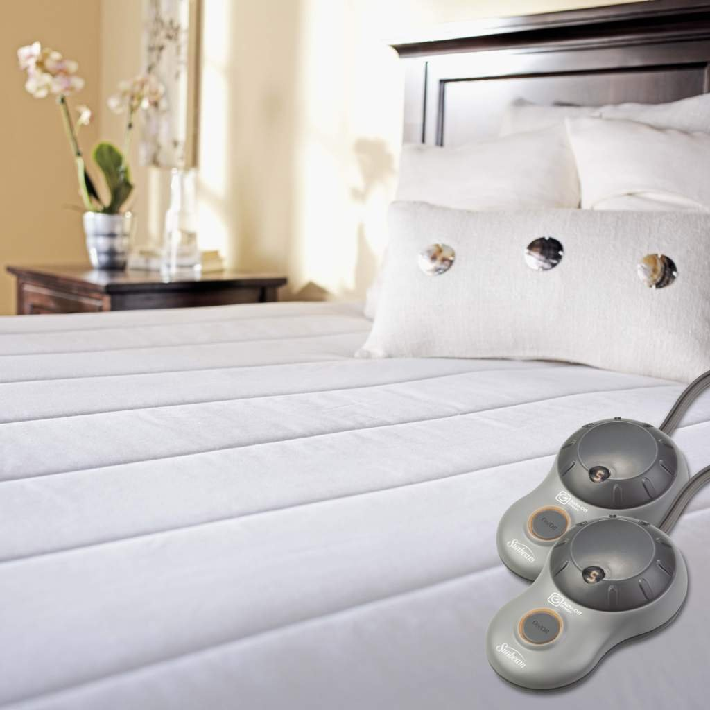 Amazon.com: Sunbeam Heated Mattress Pad | Quilted Polyester, 10 Heat  Settings, Queen: Home & Kitchen