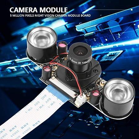 Camera Module Board,5 Million Pixels Night Vision Automatically Switch IR Cut Camera Module Board for Raspberry Pi