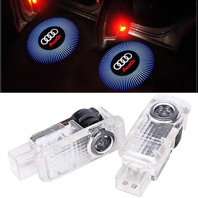 10 opinioni per Huayin 2 pezzi auto porta Door Ghost Shadow Light logo auto illuminazione