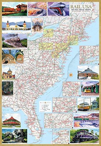 & Trips Eastern States Illustrated Map Laminated Poster ()