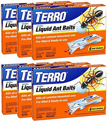 TERRO PreFilled Liquid Ant Killer II Baits T300 (rhze37) (6 Pack)