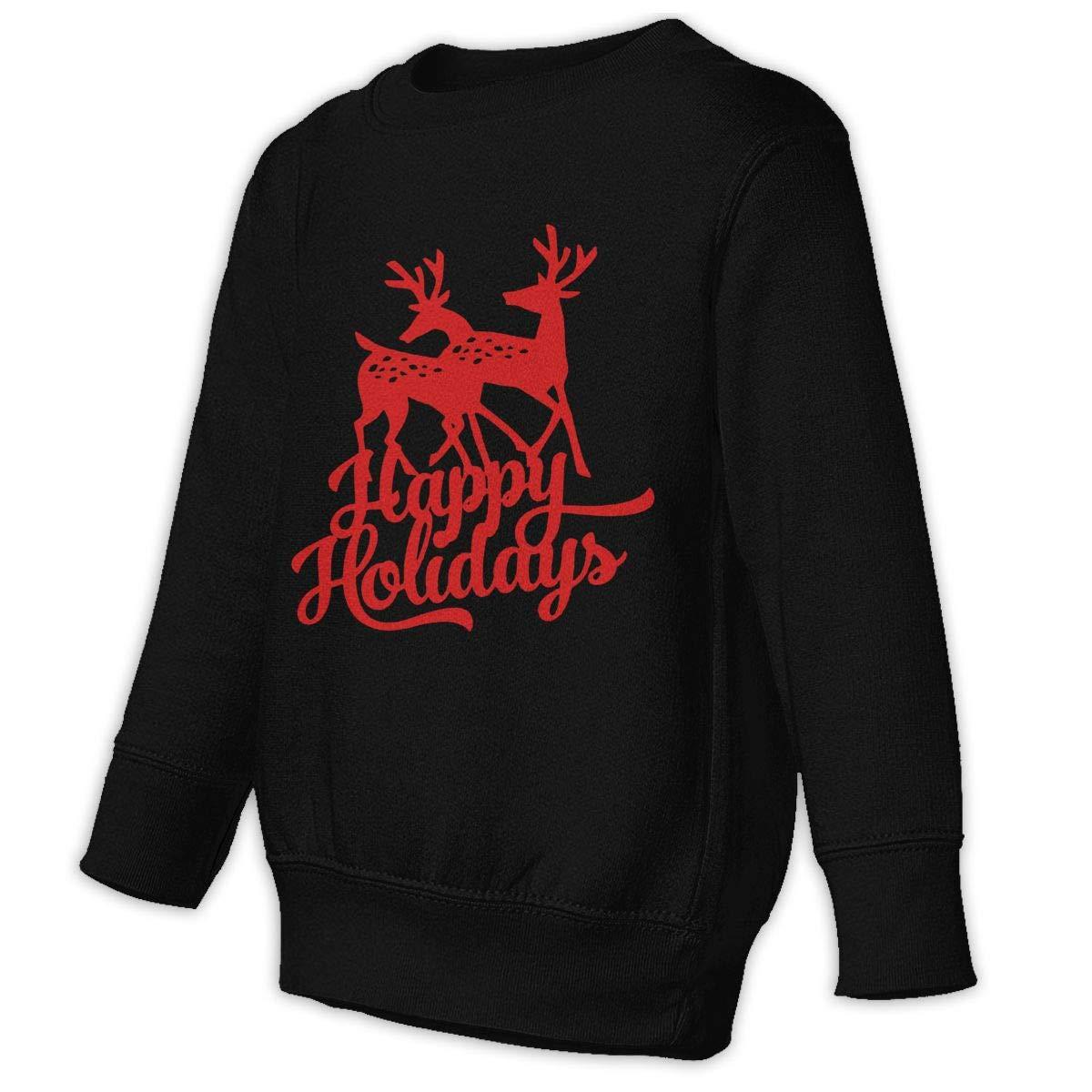 NMDJC CCQ Happy Holiday Christmas Reindeer Baby Sweatshirt Fashion Juvenile Hoodies Comfortable Pullovers
