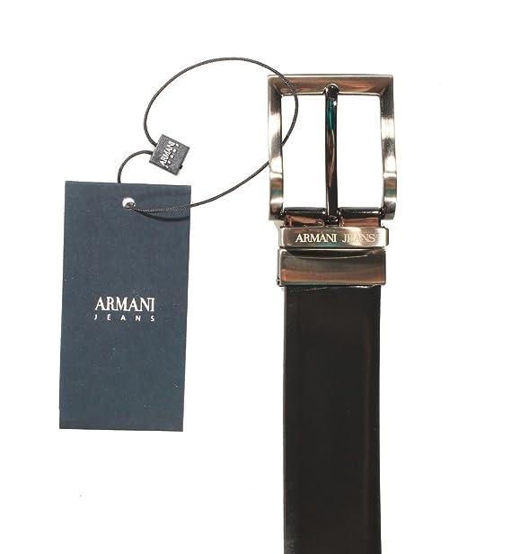 diventa nuovo spedizione gratuita migliore vendita Armani Jeans Cintura Uomo in Pelle Double Face Nero Lucido - Blu ...