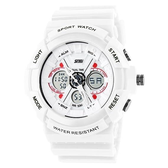 TONSHEN Relojes de Pulsera Para Hombre y Mujer LED Digital Deportivo Al Aire Libre Impermeable Electrónico Militares 12H / 24H Horas Tiempo Dual Time ...