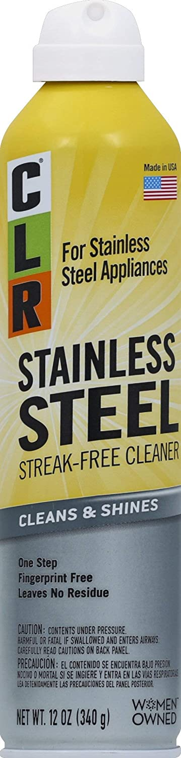 CLR Stainless Steel Cleaner, 12 Ounce Aerosol Spray