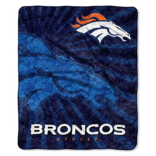 Denver Broncos NFL Sherpa Throw (STROBE SERIES) (50IN X 60IN) at Steeler Mania