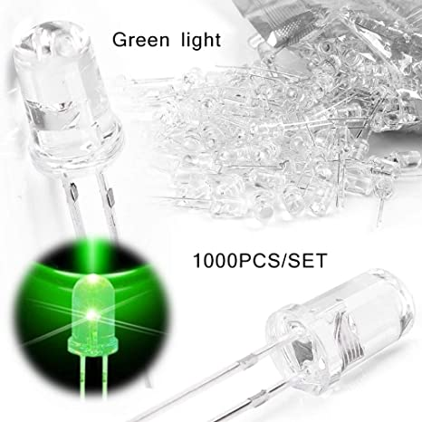 100pcs 5mm LED Water Clear White 2pin Emitting Diode