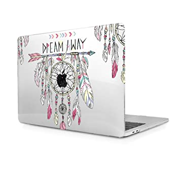 Funda MacBook Pro 13 2016 2017, Funda Dura Carcasa protector de plástico para MacBook Pro 13 con/sin Touch Bar A1706/A1708 (Atrapasueños)