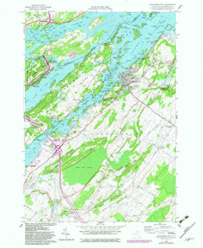 YellowMaps Alexandria Bay NY topo map, 1:24000 Scale, 7.5 X 7.5 Minute, Historical, 1958, Updated 1982, 26.9 x 22.1 in - Paper