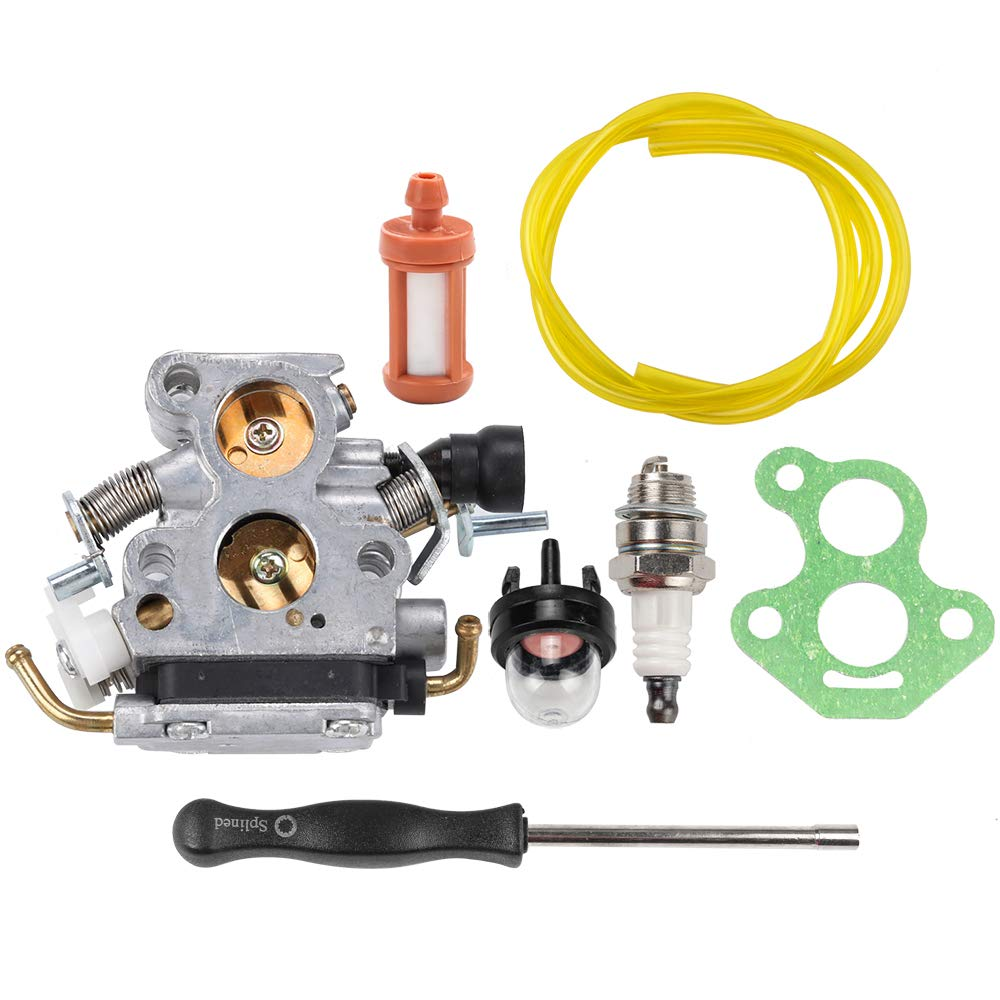 Dalom Zama C1T-El41 Carburetor w Adjustment Tool Tune Up Kit for Husqvarna 435 435E 440 440E Chainsaw Jonsered CS2240 CS2240S Craftsman 358381800 506450501 Carb uel Filter Spark Plug by Dalom