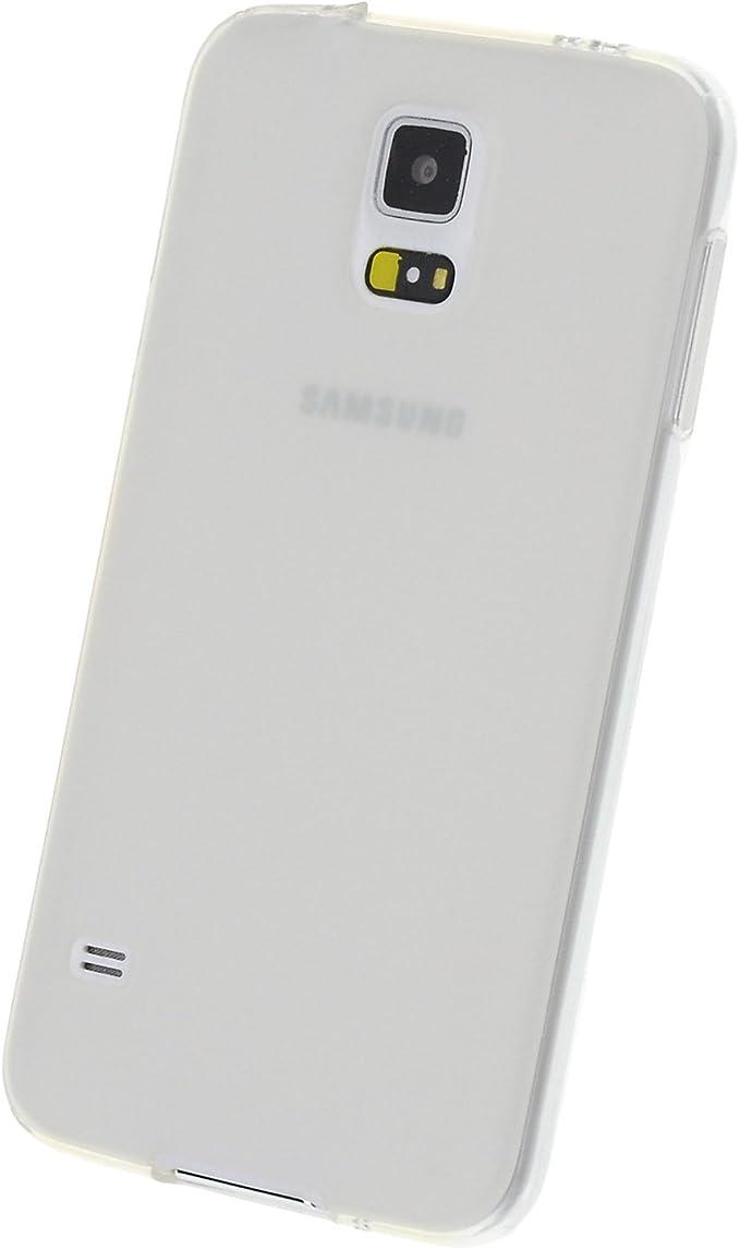 doupi PerfectFit Funda Compatible con Samsung Galaxy S5 (S5, S5 Duos, S5 Plus, S5 LTE, S5 Neo), Tapones de Polvo instalados TPU Ligero Estuche Protección, Blanco: Amazon.es: Electrónica