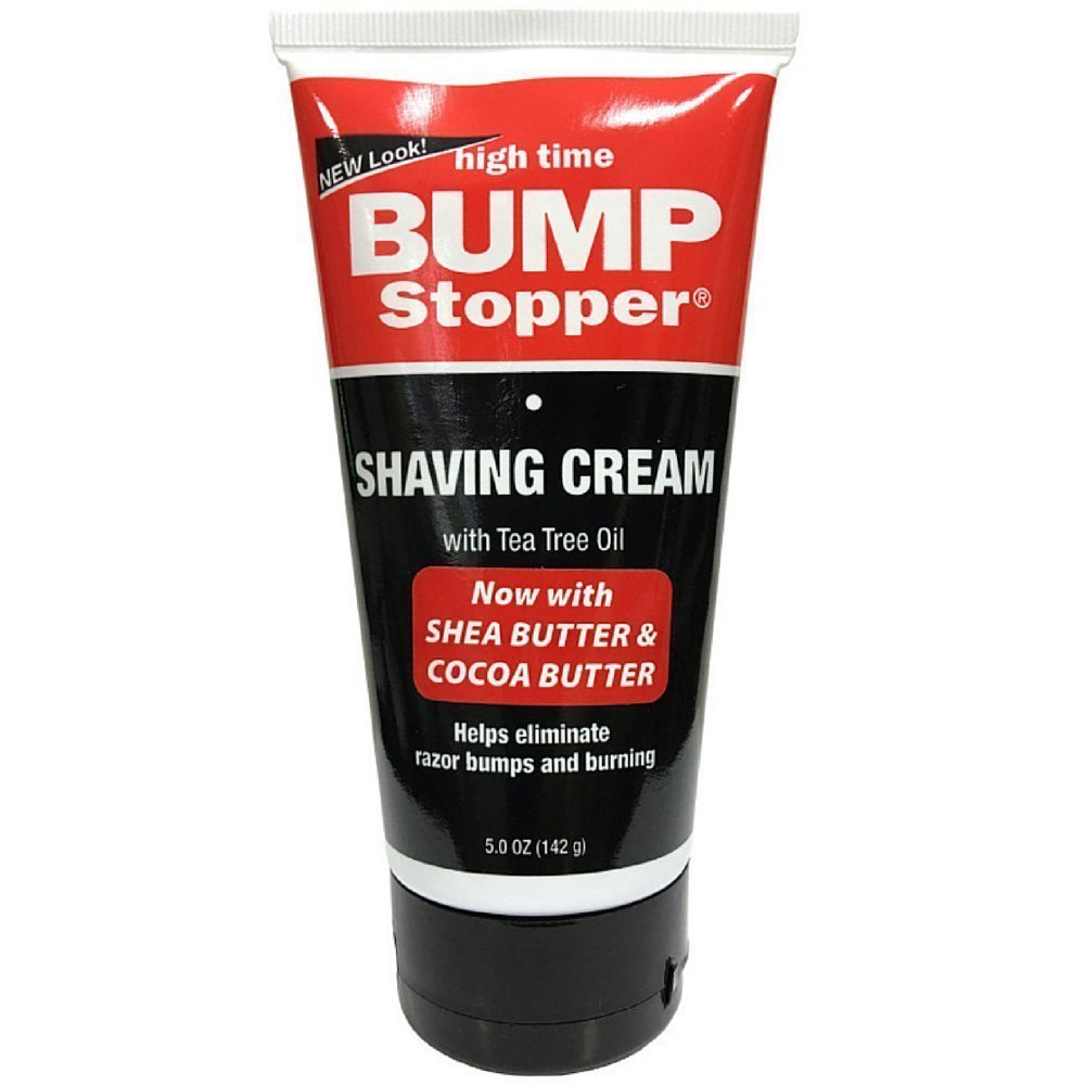 High Time Bump Stopper Shaving Cream W/Tea Tree Oil 5oz Tube 16844