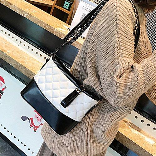 las mensajero bolso de Bolso hombro cuero Black la moda mujeres de de de de Black del de hombro bolso Color simple la del PU ZwYIrq7Y