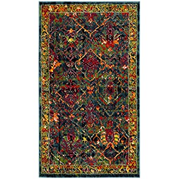 safavieh cherokee collection chr914b blue and red area rug 3 39 x 5 39 kitchen dining. Black Bedroom Furniture Sets. Home Design Ideas