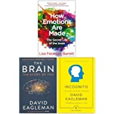 How Emotions Are Made, The Brain The Story of You, Incognito The Secret Lives of The Brain 3 Books Collection Set