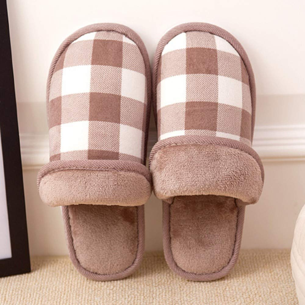 ZLULU Chaussons Pantoufles Couple Chaussures Hommes Et Femmes Pantoufles Hiver Hommes Pantoufles