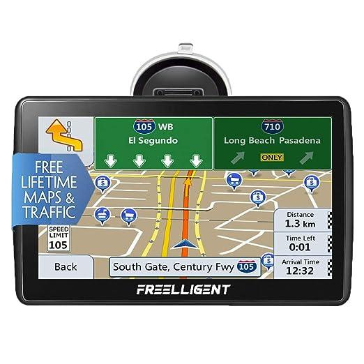 FREELLIGENT Sat Nav GPS Navigation System, 7 Inch 8 G 256 MB Car Truck  Lorry Navigation Maps, HD Universal GPS Smart Voice Reminder Global  Navigation