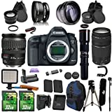 Canon EOS 5D MK III + 28-135mm IS USM + 75-300mm + Preset 500mm Telephoto PagingZone Kit Includes, .43x Fisheye + 2.2x Telephoto + LED Light + 2 SD 32GB Card + Extra Battery & Charger + Battery Grip
