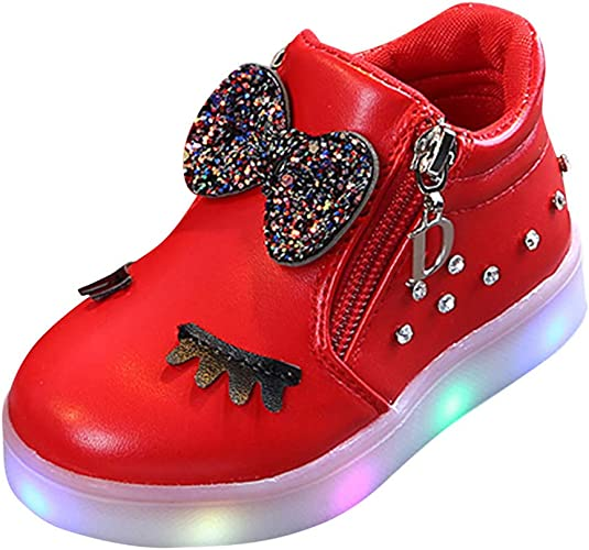 LEvifun Bébé Chaussures LED Baskets Sport, Chaussure Fille