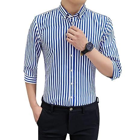 LIBAIYU Camisa<BR>Camisas con Botones para Hombres Camisa con ...