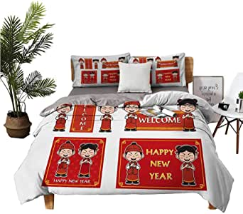 Amazon.com: Chinese New Year 3 Piece Bedding Sets with ...