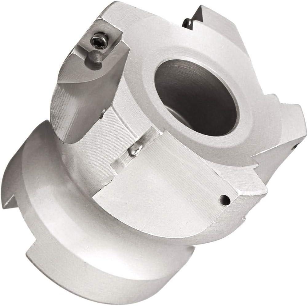 CUHAWUDBA Cabezal de Fresado CNC de Fresa de Cara de 40 Mm Insertos de Carburo APMT1135 de 10X Aleaci/óN de Carburo de 40CrMo